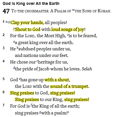 Psalm 47 clip
